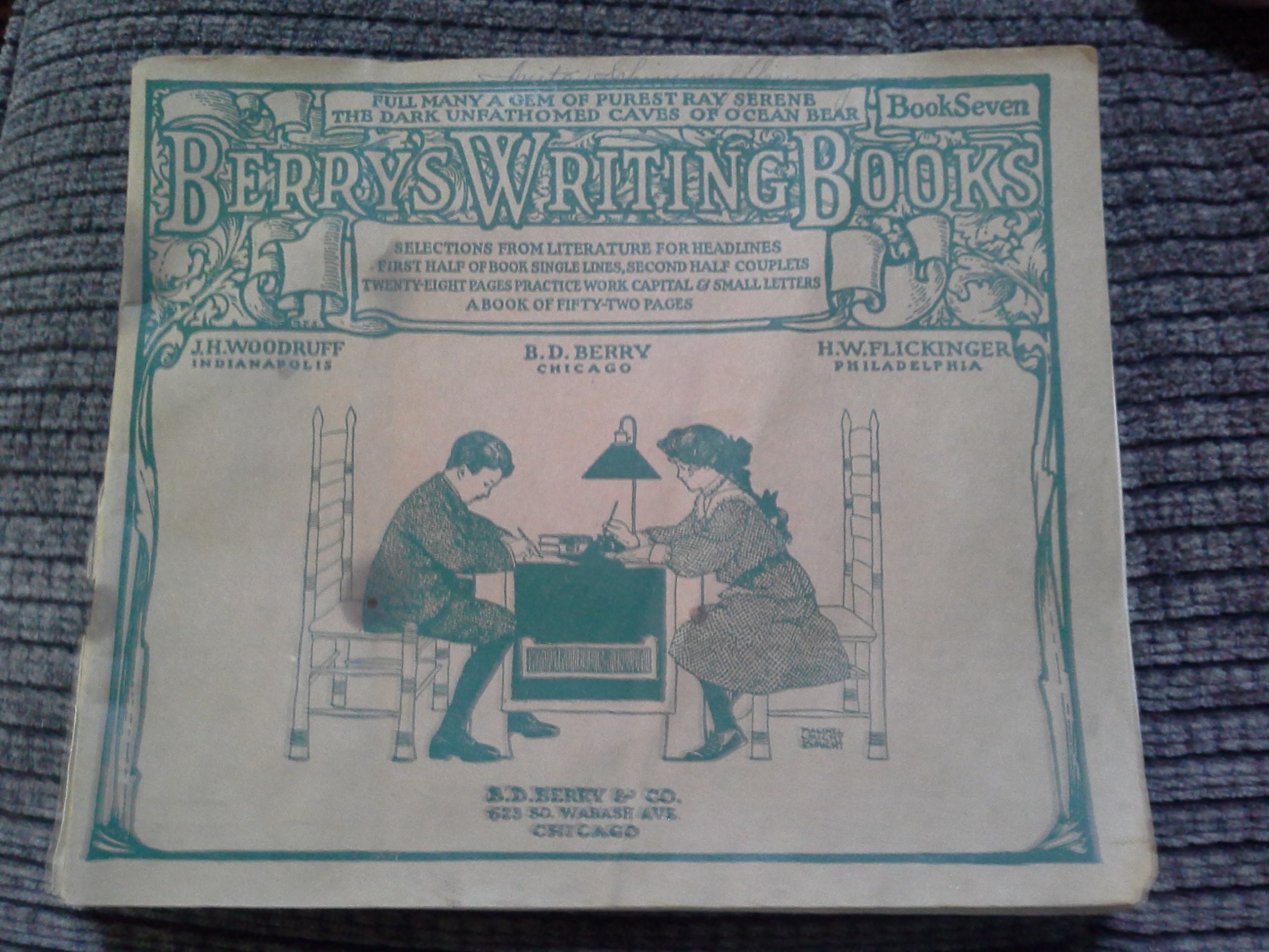 1908 Berry's Writing From Literature Book
