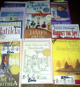 Family reading time, sharing classic junior novels, grades 2-8